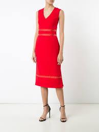 altuzarra tops altuzarra studded detail midi dress scarlet women