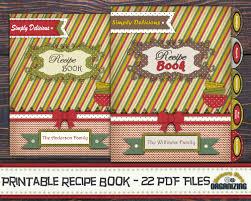 diy printable recipe book templates pdf 8 5x11 recipe