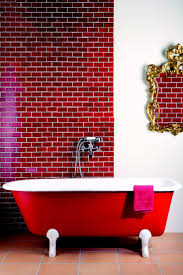 53 best red tile images on pinterest red tiles red bathrooms