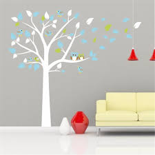 compare prices on wall stickers trees online shopping buy low 2017 new owl standing huge white tree wall sticker baby nursery bedroom wall art decor owl
