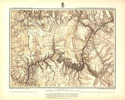 Topographical Map Of Colorado by The Grand Canyon