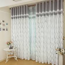 Black And White Striped Curtains Aliexpress Buy Black White Grey Color Wave Stripes Curtains