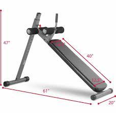 xmark 12 position ergonomic adjustable decline ab bench xm 4416 1
