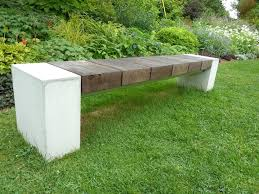 cement garden bench gardening ideas