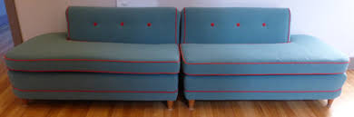 Flexsteel Upholstery Fabric Before U0026 After Funky 50s Flexsteel Sectional Sofa Upholstery