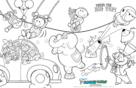 printable coloring pages circus