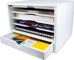Desk Organizer With Drawer by Victor W4720 Pure White Desktop Organizer Victor Technology Llc