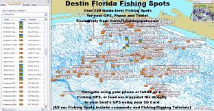 destin map destin florida fishing map florida fishing maps for gps