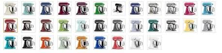 kitchenaid mixer colors kitchenaid mixer colors kitchen tools small appliance reviews