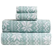 great bay home stratton printed flannel sheet set king save 50