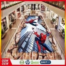 3d spider design adhesive floor covering vinyl 3d floor mural