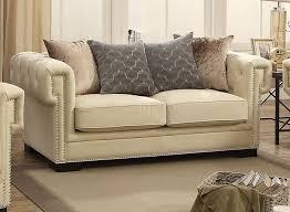 Cream Velvet Sofa Fabric Sofa 54245 In Cream Velvet By Acme W Options