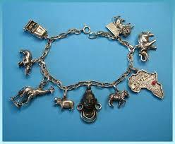 themed charm bracelet vintage sterling silver themed charm bracelet just 4