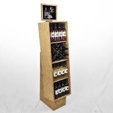 Merchandise Display Case Liquor Store Shelving Commercial Wine Racks Wood Gondola Shelving