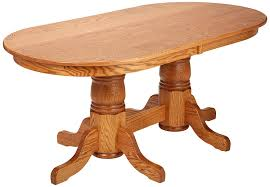 amazon com dooley u0027s en7236dbd 3 solid oak double pedestal oval