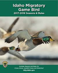 Fish And Game Table Migratory Game Bird Seasons And Rules Idaho Fish And Game