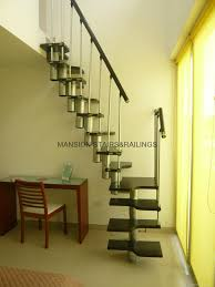 Small Space Stairs - exotic modern canopy bed design made of dark wood loversiq