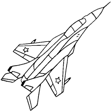 jet coloring page line drawings 2590