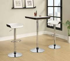 Mini Bar Table Furniture Luxury White Bar Table Set With Minimalist Stainless