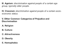 prejudice and discrimination ppt download