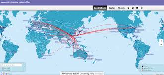 Qantas Route Map by Booking Alaska Partner Awards U2013 Cathay Pacific Pointsnerd