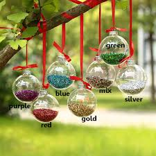 clear christmas ornaments dia8cm clear glass balls silver top shiny glitter in glass