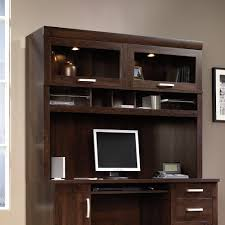 Computer Hutch Desk With Doors Office Port Hutch With Glass Doors 408292 Sauder