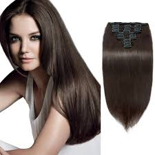 remy hair extensions 120g 200g 10pcs clip in remy hair extensions 2 darkest