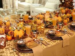festive table decorations for thanksgiving table decoration for