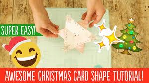 festive star shaped christmas card quick xmas craft tutorial