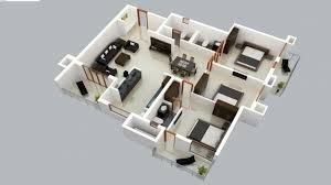 Fascinating 2 Story 3d Floor Plan And Bedroom House Plans 2 Story House Plan 3d