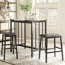 3 piece counter height table set dining sets awesome 3 piece counter height dining set high