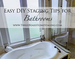 Bathroom Staging Ideas Colors Bathrooms Easy Diy Staging Tips Three Bears Home Staging