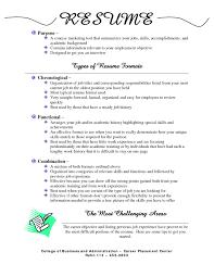 Resume Job Skills by Resume Types 22 Resume Types Types Of Resumes Formats Sample 3