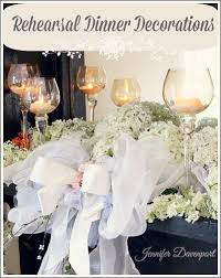 rehearsal dinner decorations affordable decorations