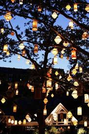 Outdoor Hanging Lights For Trees Lanterns Light It Up Gardens Lights And Celebrations
