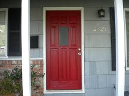 Red Home Decor Decor Red Wooden Home Depot Entry Doors For Chic Home Decoration