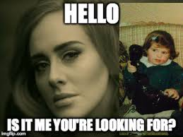 Hello Is It Me You Re Looking For Meme - adele hello imgflip