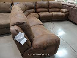 Curved Sectional Sofa With Recliner by Microfiber Power Reclining Sectional Sofa Centerfieldbar Com