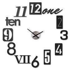 Weird Wall Clocks by Amazon Com Umbra Numbra Wall Clock Black Home U0026 Kitchen