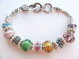 beads bracelet pandora images Summer colors murano glass bead bracelet pandora style inspired JPG