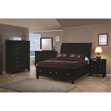 Black Master Bedroom Set Coaster Furniture 201329ke Sandy Beach King Sleigh Bed In Black