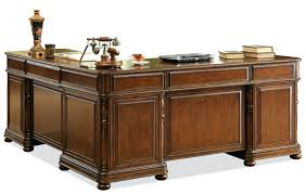 L Shaped Desk Hutch by Desk Used R Series Veneer L Shaped Desk With Double Pedestals By