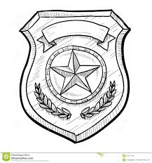 police or security badge sketch royalty free stock images image