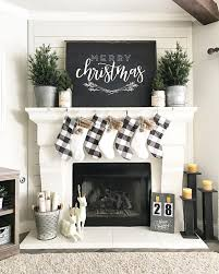 Mantel Ideas For Fireplace by Love This Simple Black And White Christmas Decor U2022 Instagram Photo
