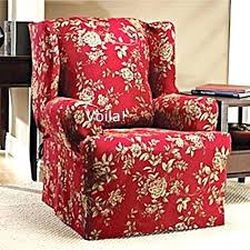 sure fit parsons chair slipcovers two wingback chair slipcover historicthomaswv com