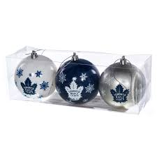 nhl toronto maple leaf ornaments set of 3 retrofestive ca