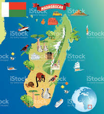 Madagascar Map Cartoon Map Of Madagascar Stock Vector Art 468162242 Istock