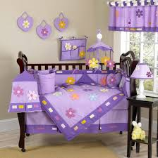 Crib Bedding For Girls Bedroom Fascinating Purple Crib Bedding Set With Butterfly Motif