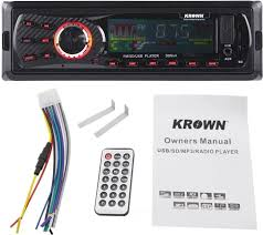 krown d trek series car stereo dt 4444 with built in fm mp3 usb